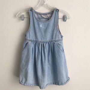 🌺Arizona Kids Jean Overall Dress Blue Embroidery